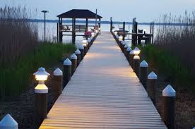 Dock Lighting Ideas White Cone Piling Caps Cover Each Piling Without A Mac Cap