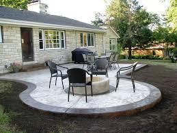 concrete patio design ideas yard