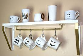 Uncategorized Coffee Mug Hooks diy coffee mug shelf