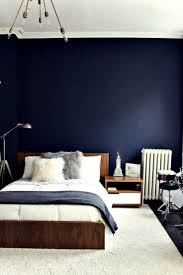 blue feature wall bedroom dark blue feature wall for a dramatic bedroom color ideas jpg 736x1103