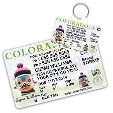 Colorado Dogs Amazon For com Driver Pet Cat Card License Wallet Custom Dog And Supplies - Tag Id Cats Pets Tags Personalized