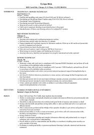 Senior Technician Resume Samples Velvet Jobs