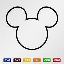 Mickey Mouse Head Outline Svg, Dxf, Eps, Ai, Cdr Vector Files for  Silhouette, Cricut | Mickey and minnie kissing, Svg, Biohazard symbol
