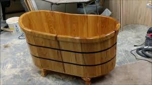 wood bathtub ofuro in cypress with clawfoot driftwood tubs