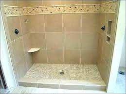 base tile trench shower barrier free with center drain reviews ready pan problems large size of appealing bench footing