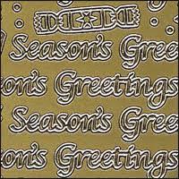 Seasons Greetings Words Gold Peel Off Stickers 1 Sheet 0 79