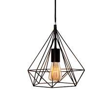 fangio lighting s 11 in 1 light black diamond cage metal pendant