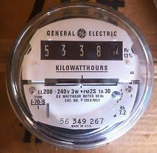 electrical usage meters ebay 208 Volt Meter Base ge electric watthour meter (kwh) type i70s, i 70s,