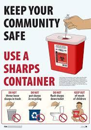 sharp disposal. sharps disposal sharp o