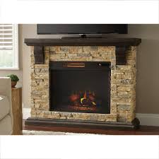 highland 50 in faux stone mantel electric fireplace
