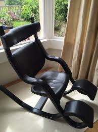 gravity balans chair. Contemporary Balans Varier Gravity Balans Chair In Black Ash And Leather Inside