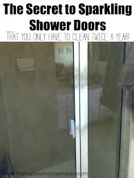 how to clean shower doors with vinegar clean shower glass with vinegar cleaning glass