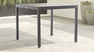 outdoor furniture crate and barrel. alfresco grey caf table outdoor furniture crate and barrel