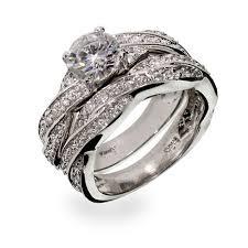 Silver Twisted Cz Wedding Ring Set Eve S Addiction