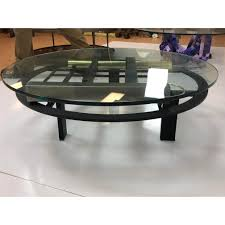 Design Institute Of America Coffee Table 190219 354 Dia Kaizo Oto Glass Top Metal Base Coffee Table