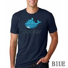 Docker Boys T Shirts Summer Funny Printed Casual T Shirt Men Short Sleeve Fashion Boys Tops