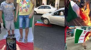 libyan protestors burning italian flag photo facebook