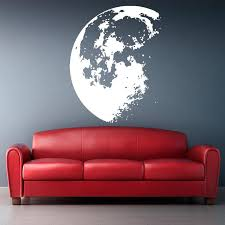 new design outer space moon wall sticker home decor modern vinyl wall decals house decoration art mural diamond level wall accents stickers wall adhesives