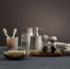 Horn Decorative Accessories I just bought natural horn bathroom accessories from Home 16