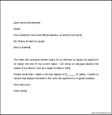Rent Notice Letter Sample Nation Of Tenancy Letter From Landlord Two Weeks Tenant Notice