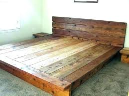 Cal King Platform Bed Frame Plans Diy Architectures Licious M With ...