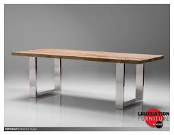 Stainless Steel Dining Table: Provence Dining Table Reclaimed Solid Pine  Wood Toppolished Stainless Steel Legs