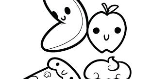 Kawaii Fruit Coloring Pages
