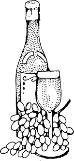 bottle and glass big image png italian clipart wine italian