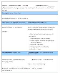 Sample Common Core Lesson Plan Unique 48 Part Lesson Plan Template Akhia