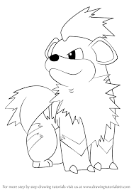Pokemon Growlithe And Arcanine Line Art Wwwpicswecom