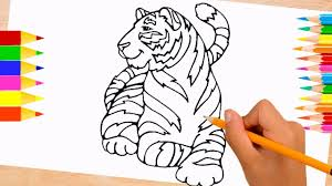 Daniel Tiger Coloring Pages For Kids   Color Tiger To Learn Colors ...