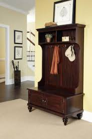 Coat Rack Cabinet Entryway Foyer Furniture Large Brown Wood Entryway Bench With 68