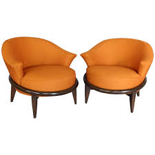 Space Age Furniture Pair Of Space Age Modernist Lounge Chairs For Sale At 1stdibs