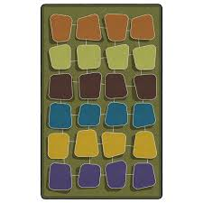 palette rug earth rows