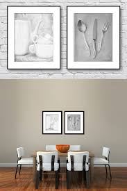 dining room wall art kitchen black and white set of
