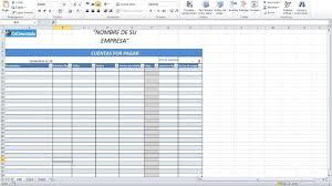 Plantilla Excel Cuentas Por Cobrar Y Pagar