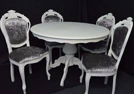 shabby chic french louis style round dining table 4 louis chairs choose your colour and