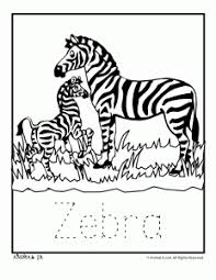 Small Picture Zoo Animal Coloring Pages with Letter Writing Practice