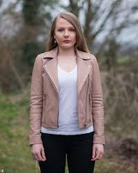 allsaints dalby leather biker jacket blush pink review