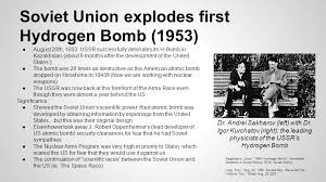 Image result for the USSR  first hydrogen bomb.