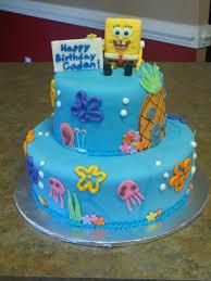 Spongebob Birthday Cake Two Tiered Fondant Spongebob Cake Used A