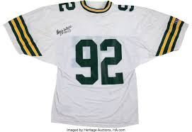 44220 White Lot Heritage Signed Jersey Collectibles Reggie Auctions Football Uniforms