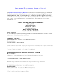 Resume Format For Mechanical Engineers Freshers It Resume Cover