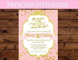 Princess Invitation First Birthday Invitation Crown Party Girls