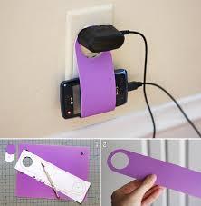 diy cardboard cellphone charging holder diy projects