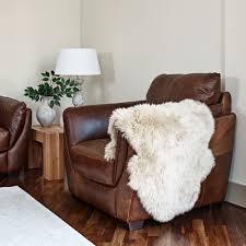 new zealand stone sheepskin rug 60cm x 95cm