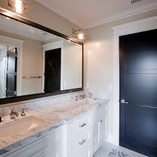 White Framed Bathroom Mirror Design Ideas