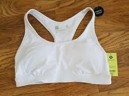 Nwt Womens Xersion Solid Black Medium Support Sports Bra