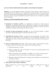 Form Of Share Certificate Hsc Sp Lesson 3 Part 2 Role Of Company Secretary Notes
