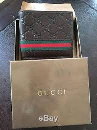gucci wallet for men. gucci men\u0027s classic brown guccissima leather web bi-fold wallet 100% aunthentic gucci for men